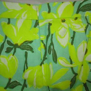 Madewell Skirts - Madewell Neon Yellow Floral Bark Cloth Skirt 6